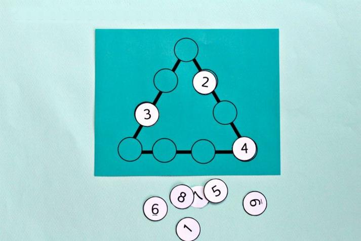 Математический пазл для детей